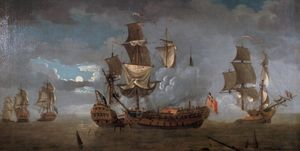 Naval collision between of HMS Serapis