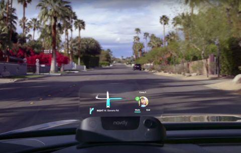 Navdy Dashboard Navigation CES 2017