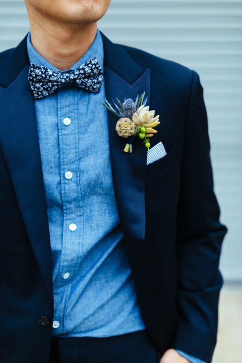 Clothing, Blue, Dress shirt, Collar, Sleeve, Coat, Outerwear, Standing, Formal wear, Blazer,