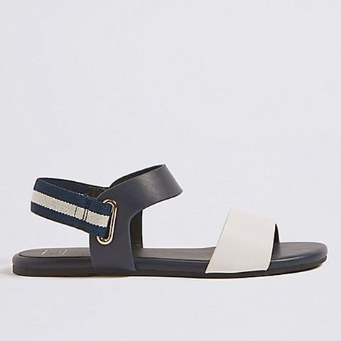 4e520ab4f BUY NOW M S Collection Elastic Ring Detail Sandals (£19.50). image
