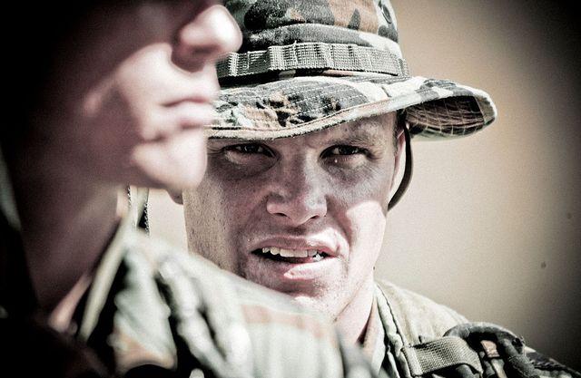 entrenamiento burpee de los soldados