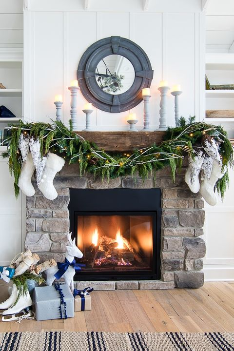 50 Mantel Decor Ideas To, No Mantel Fireplace Decor