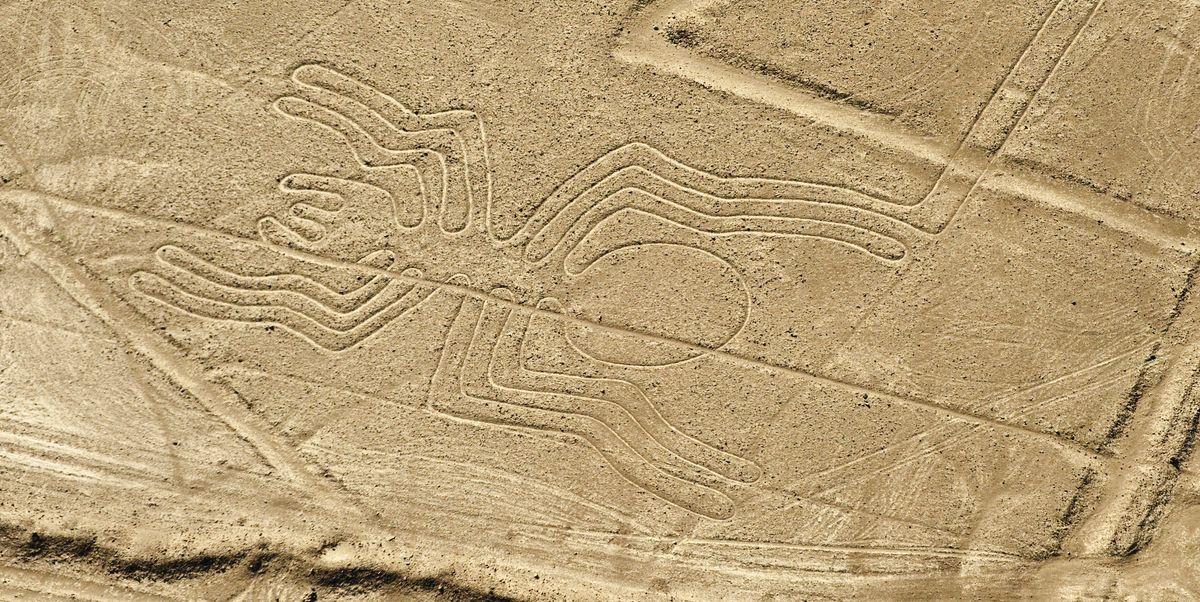 nazca lines geoglyphs line spider discovered nasca desert ai res lost ve