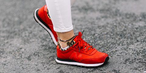 Footwear, Shoe, Red, Human leg, White, Style, Carmine, Fashion, Black, Street fashion,