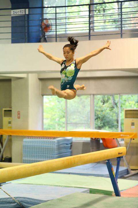 Gymnastics, Artistic gymnastics, Sports, Individual sports, Tumbling (gymnastics), Balance beam, Sportswear, Leisure, Sports equipment, Uneven bars,