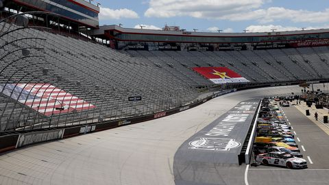 bristol, tennessee   may 31 cars are seen on the grid prior to the nascar cup series food city presents the supermarket heroes 500 at bristol motor speedway on may 31, 2020 in bristol, tennessee photo by kevin c coxgetty images