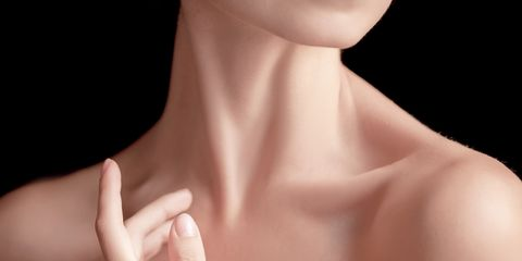 Skin, Neck, Shoulder, Chin, Beauty, Joint, Lip, Hand, Close-up, Chest,