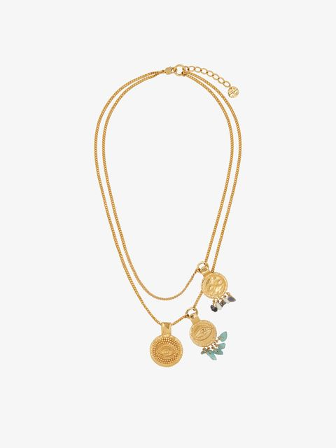 Jewellery, Fashion accessory, Necklace, Body jewelry, Pendant, Chain, Gold, Turquoise, Gemstone, Metal,