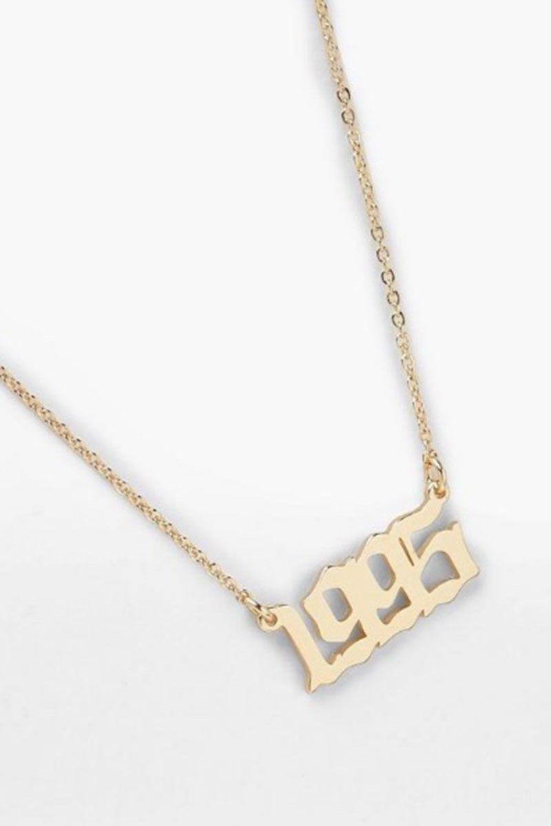 boohoo, slogan necklace