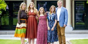 De Nederlandse koninklijke familie in Den Haag.