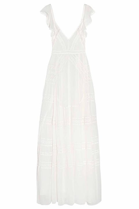 Clothing, White, Dress, Day dress, Cocktail dress, Gown, Neck, One-piece garment, Formal wear, A-line,