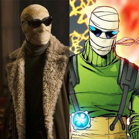 doom patrol cast vs comics negative man larry trainor