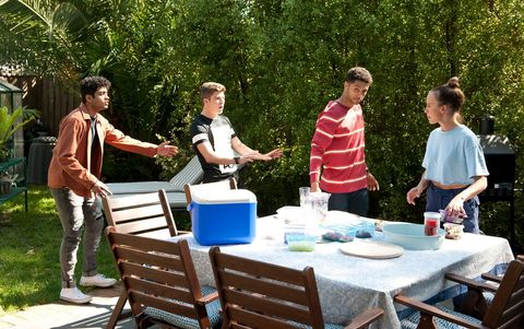jay rebecchi, hendrix greyson, levi canning and bea nilsson in neighbours