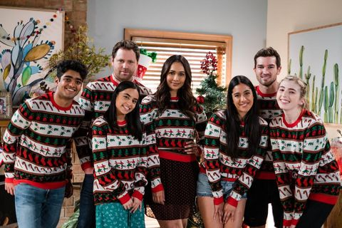 the rebecchi family at christmas in neighbours
