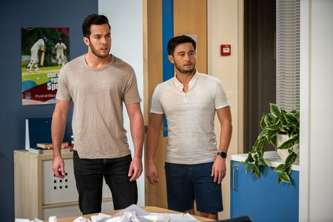 emmett donaldson is caught out by david tanaka and shaun watkins in neighbours