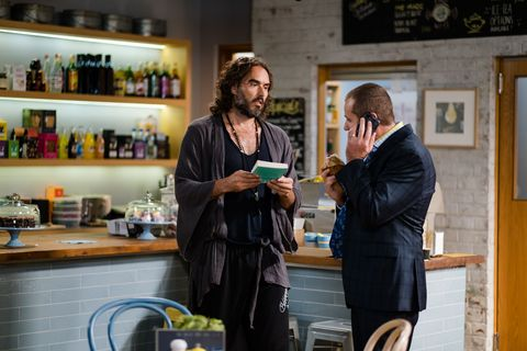 toadie rebecchi meets russell brand in neighbours