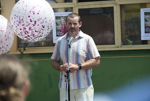 Toadie Rebecchi at the charity event in Neighbours
