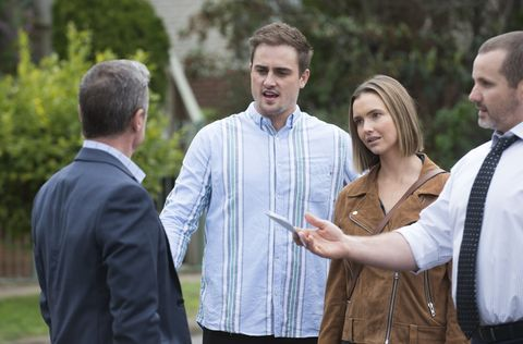 Paul Robinson and Toadie Rebecchi clash in Neighbours