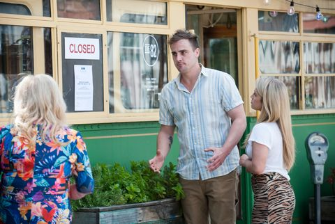 sheila canning, kyle canning and roxy willis in neighbours