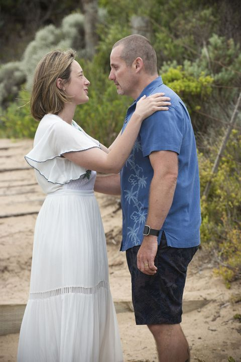 Sonya Rebecchi with Toadie in her final Neighbours episode