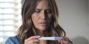 Elly Conway discovers that she's pregnant in Neighbours