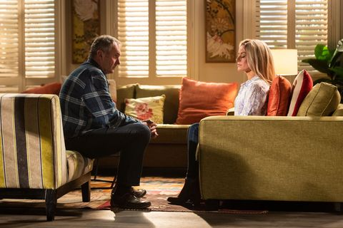 Karl Kennedy tries to help Andrea Somers in Neighbours