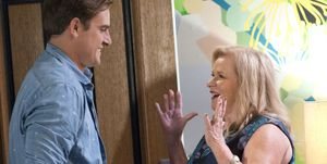 Kyle and Sheila Canning are reunited in Neighbours