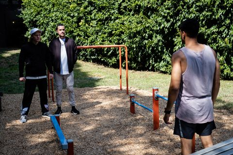 levi canning is confronted by mitch and nelson in neighbours