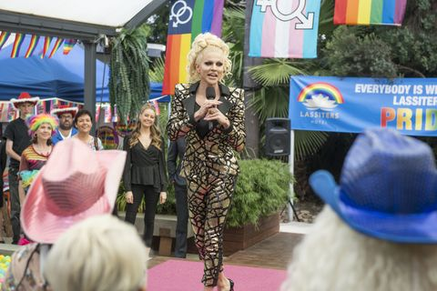 courtney act hosts the lassiters pride event in neighbours