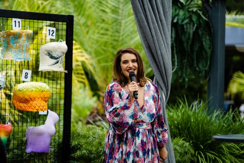 naomi canning launches the morning tea event in neighbours