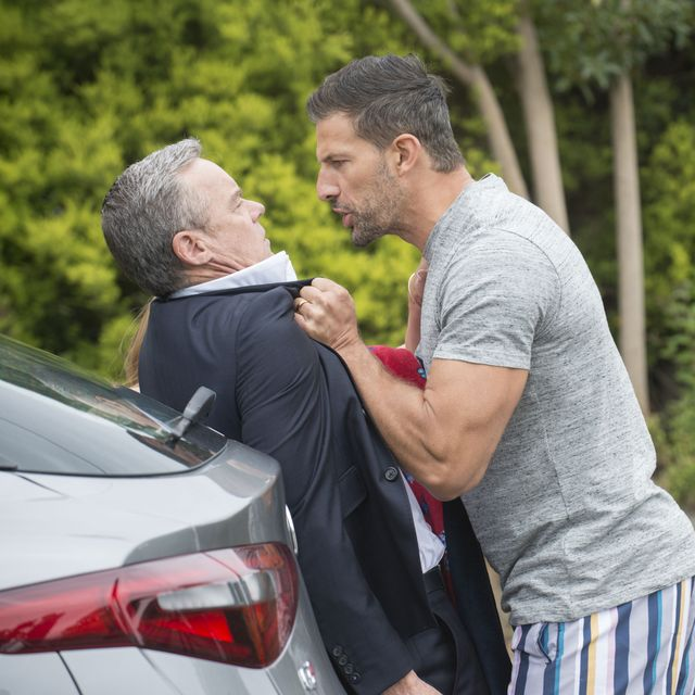 pierce greyson confronts paul robinson in neighbours
