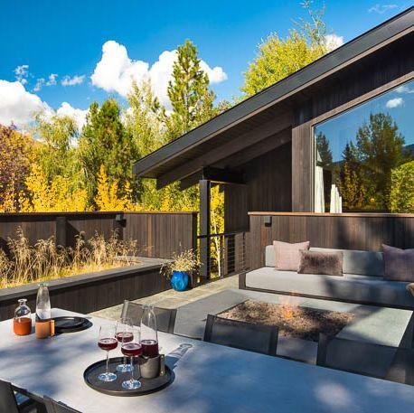 Candace Nelson Sun Valley Roof Deck - Elle Decor