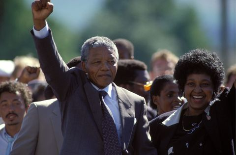 Nelson Mandela'S Liberation In South Africa On February 11, 1990.