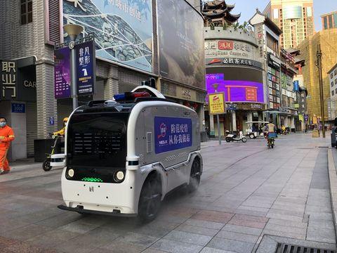 Furgoneta autónoma Neolix en Shenzhen