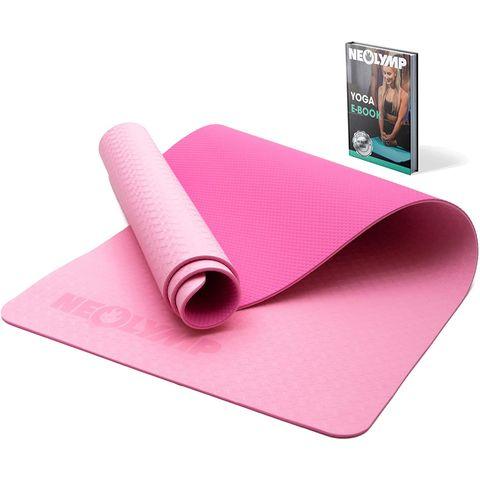 neolymp premium fitness mat roze sportmat sporten