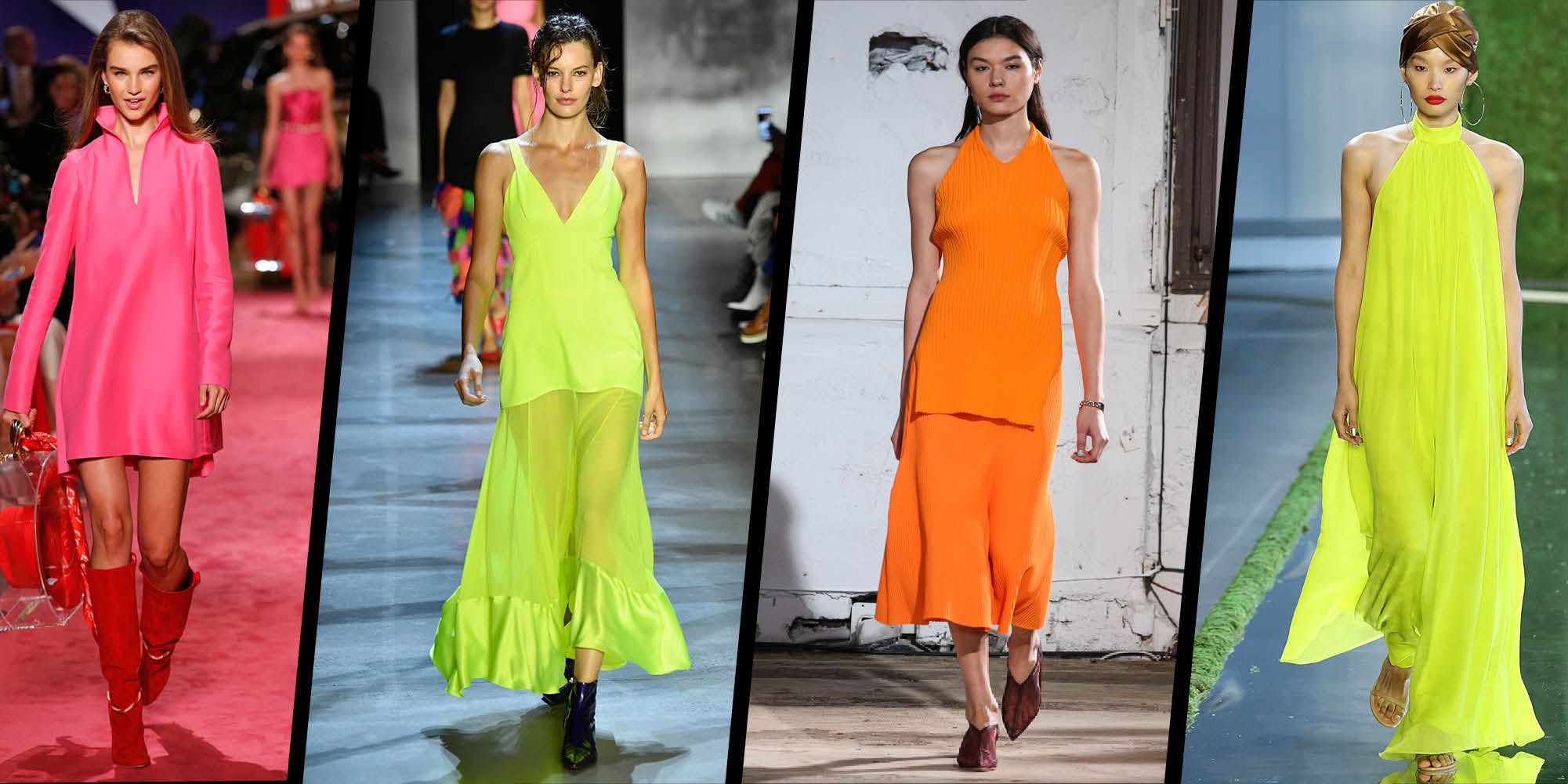 Neon brights on the catwalk
