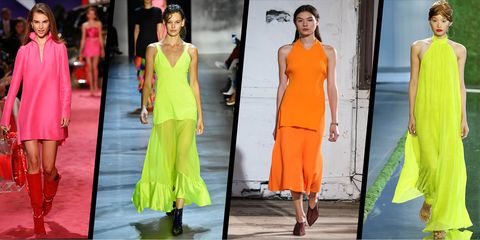 35d7616f6a07 Neon brights are ruling the runways at New York Fashion Week – Neon ...