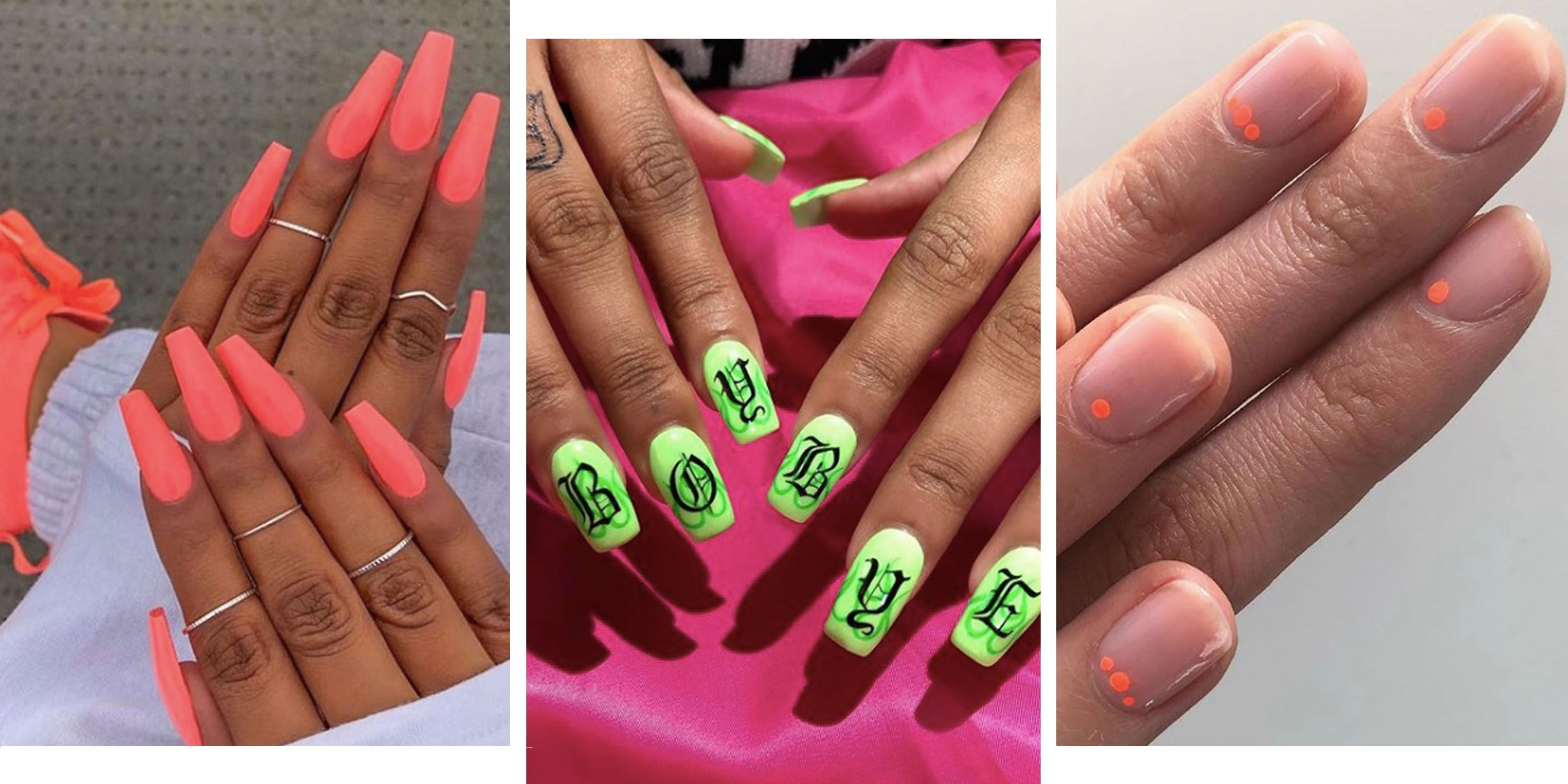 19 Neon Nail Designs That Shine Brighter Than Your Future