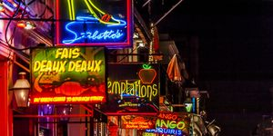Neon Signs on Bourbon Street in New Orleans