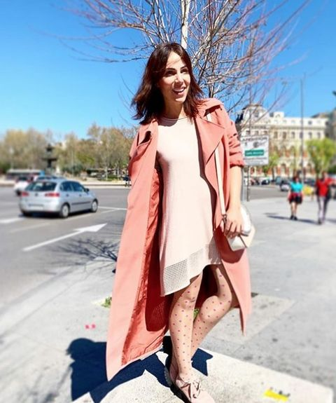 Clothing, Street fashion, Photograph, Pink, Fashion, Orange, Snapshot, Coat, Footwear, Shoulder,