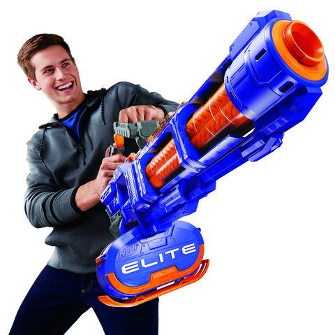Nothing Flings Foam Like a Full-On Nerf Gatling Blaster
