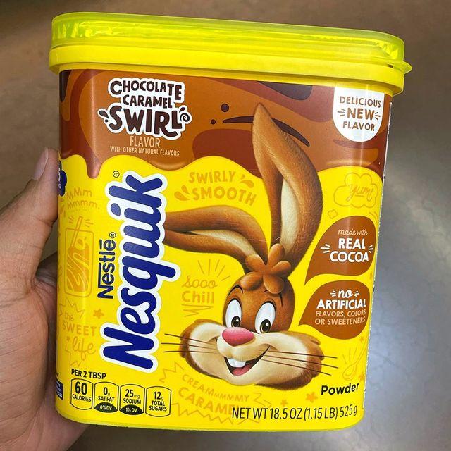 nestle nesquik chocolate caramel swirl
