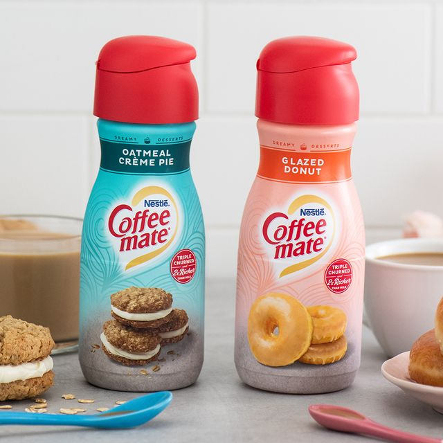 nestlé coffee mate oatmeal crème pie and glazed donut creamers