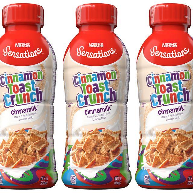 nestlé sensations and nesquik cinnamon toast crunch flavored milk