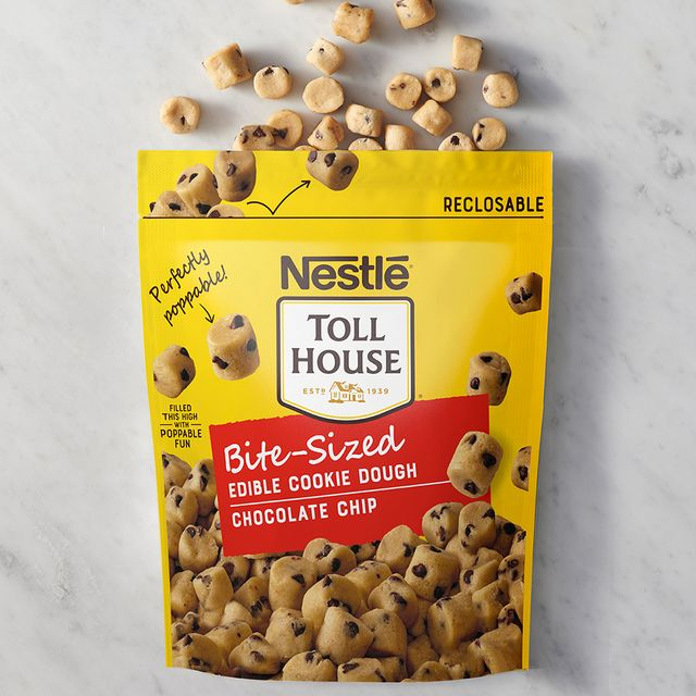 nestle toll house bite sized edible chocolate chip cookie dough