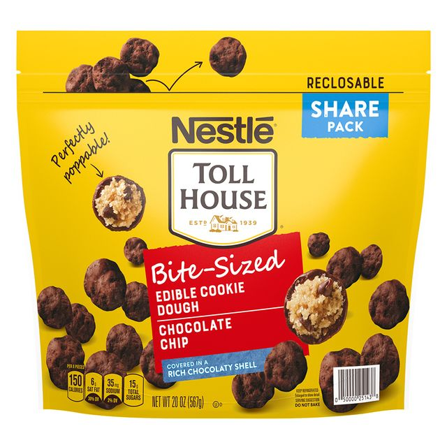 nestlé toll house bite sized chocolate chip edible cookie dough