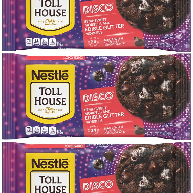 nestlé toll house disco semi sweet morsels and edible glitter morsels