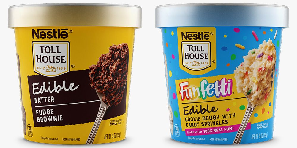 Nestlé Toll House Just Released Edible Fudge Brownie Batter and Funfetti Cookie Dough