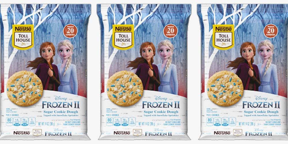 Nestlé Toll House's New 'Frozen 2' Sugar Cookie Dough Is Covered in Snowflake Sprinkles