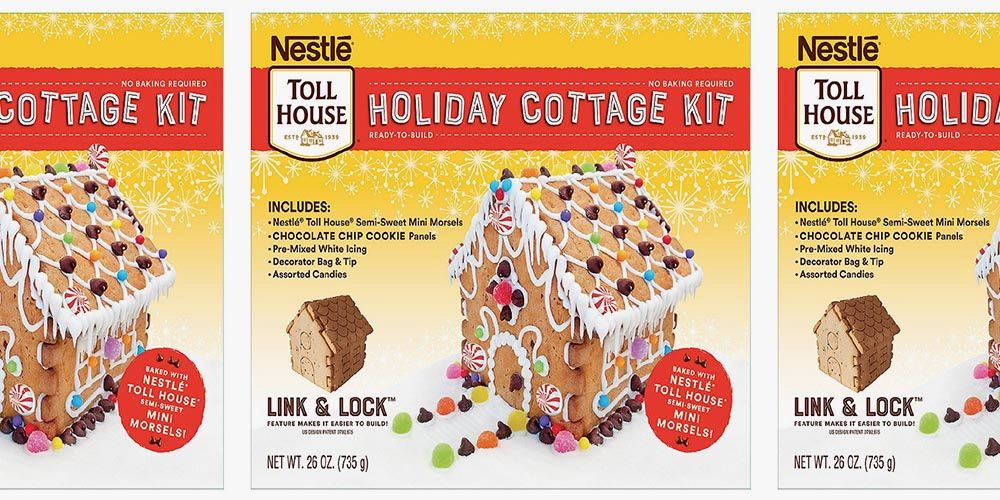 Nestlé Toll House Now Has a Holiday Cottage Kit With Chocolate Chip Cookie Walls